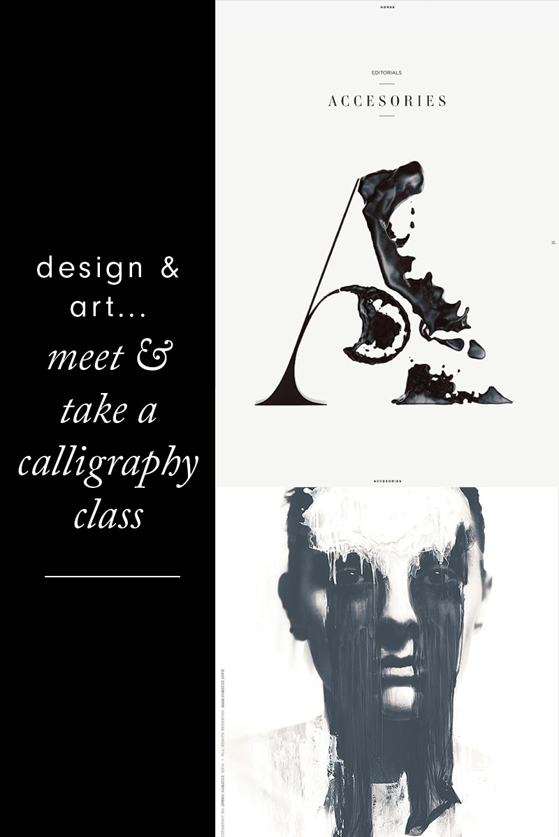 Design & Fashion...Meet & Take a Calligraphy Class | Rebecca Hawkes Diary
