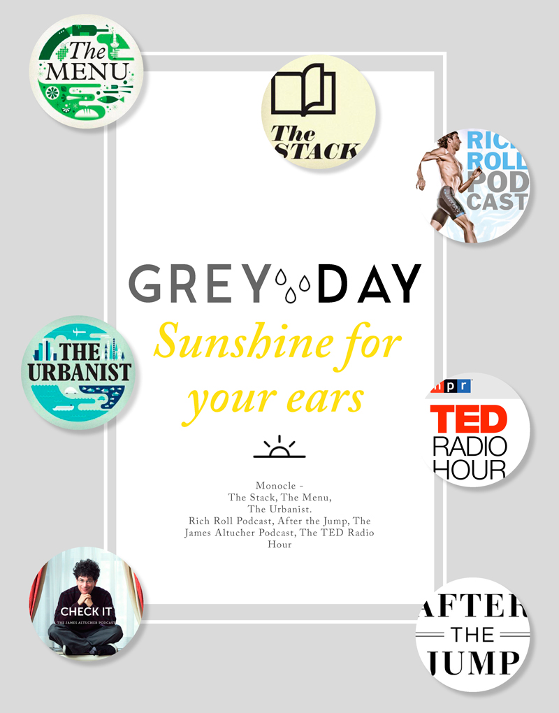 Grey-Day-Listening-for your ears. My favourites from the Podcast World