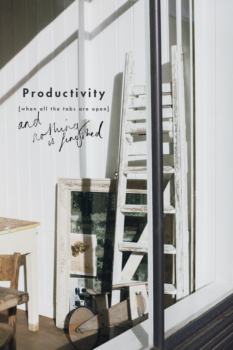 Thoughts on Productivity | When all the tabs are open but nothing is finished | Rebecca Hawkes