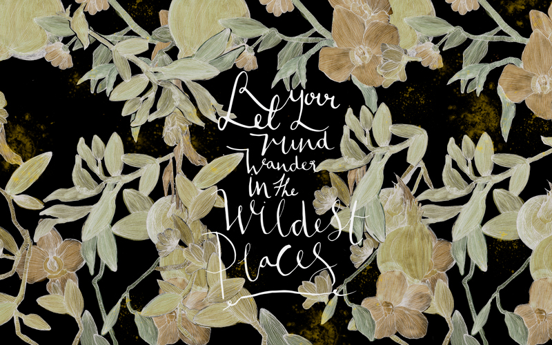 Rebecca Hawkes x Maisie Noble © Let your mind wander in the wildest places white