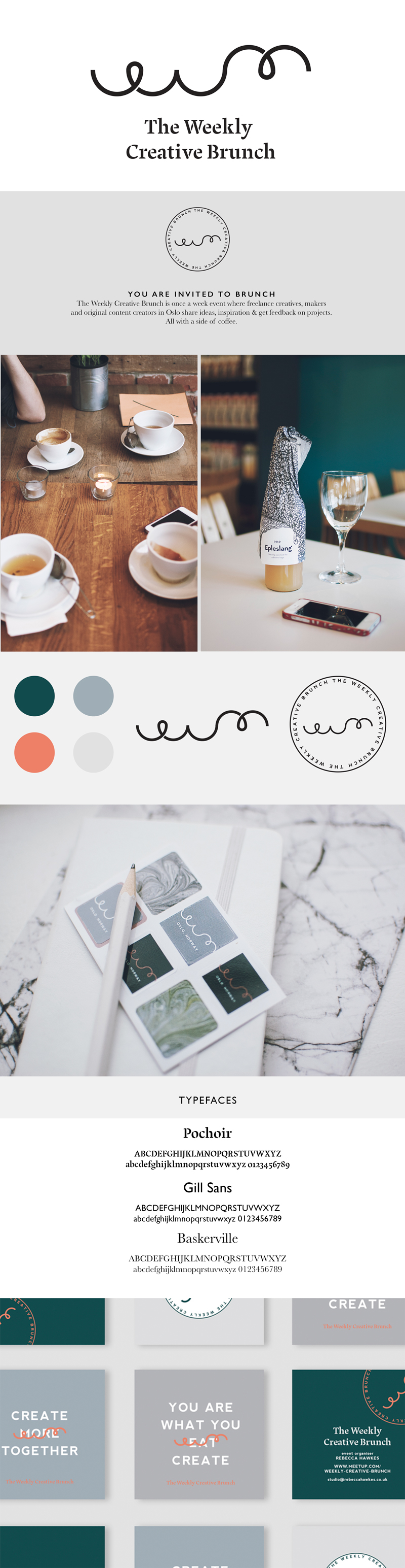 Introducing | The Weekly Creative Brunch | Branding Rebecca Hawkes