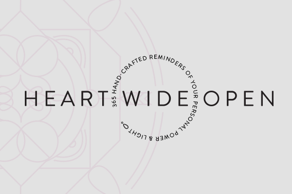 Rebecca Hawkes Portfolio ~ Brand Design & Logo for Heart Wide Open 365 daily emails