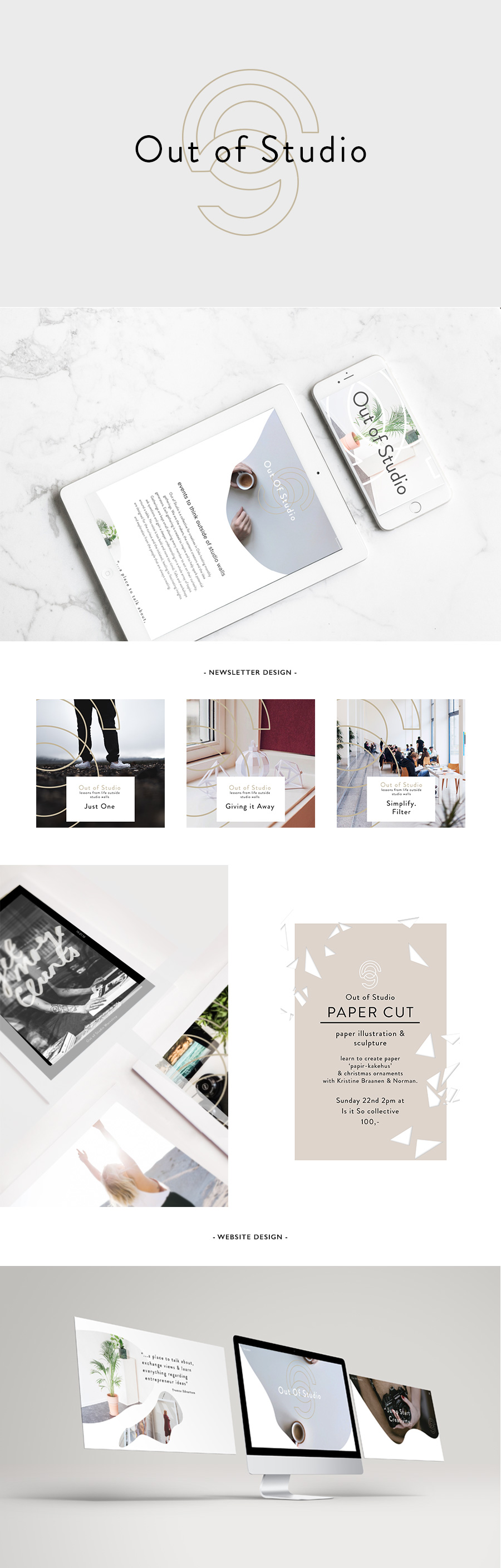 Out of Studio | Creative events in Oslo | Logo and brand design by Rebecca Hawkes