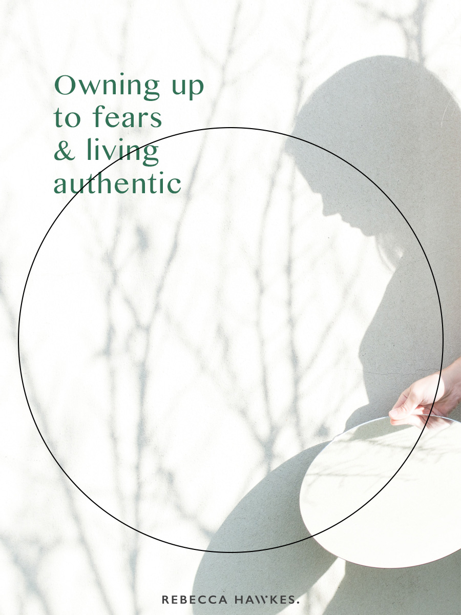 Rebecca Hawkes Diary ~ Owning up to fears and living authentic