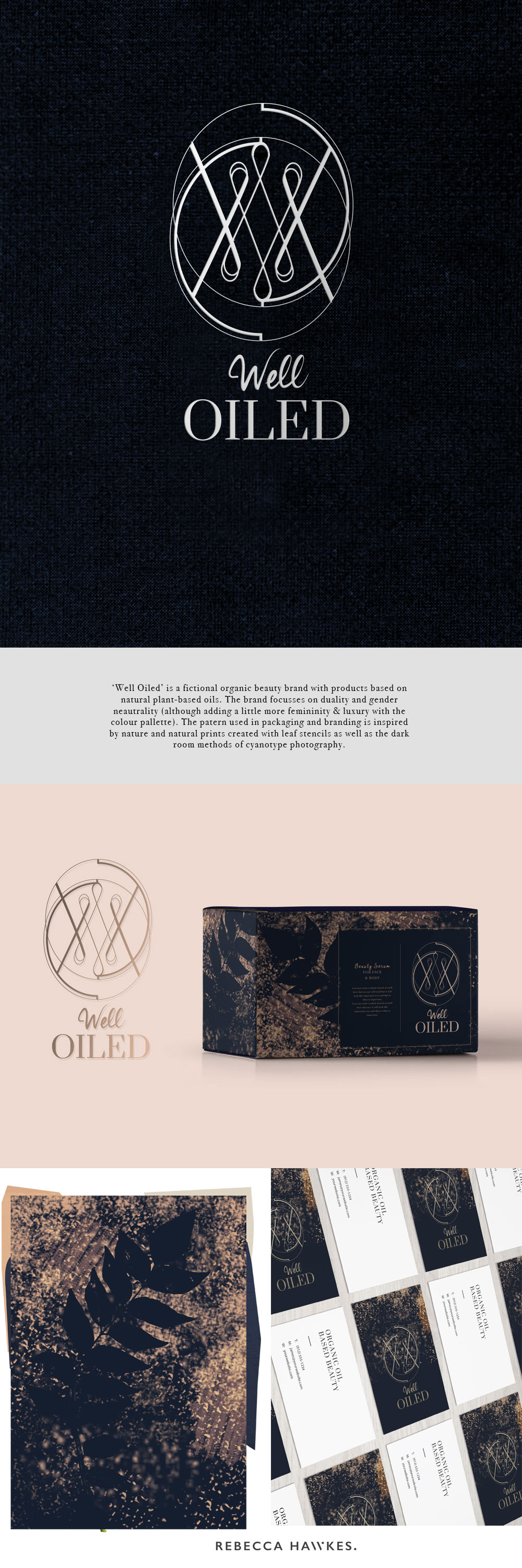 Well Oiled organic beauty brand | Design by Rebecca Hawkes
